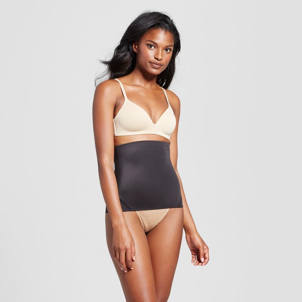SlimShaper by Miracle Brands Women's Tailored Step-in Waist Cincher - Black XL