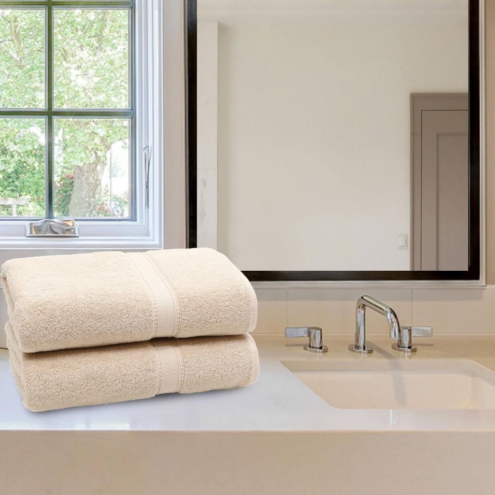 2pk Sinemis Turkish Bath Towel Collection Beige Linum Home Textiles