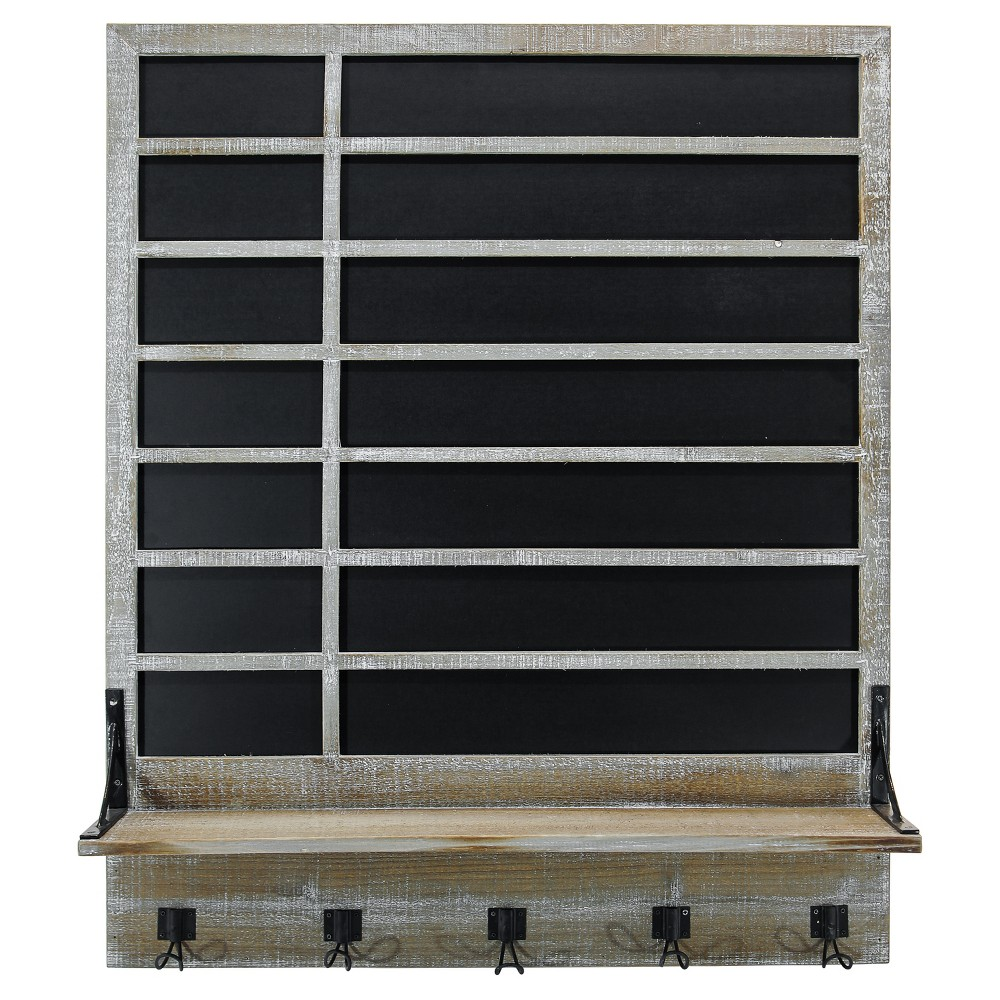 Chalkboard & Shelf Wall Décor (32x38) - Vip Home & Garden, Gray