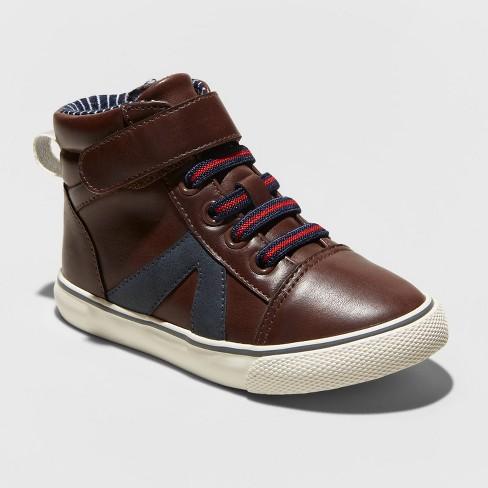 Toddler Boys' Ed Sneakers - Cat & Jack™ Brown - image 1 of 3