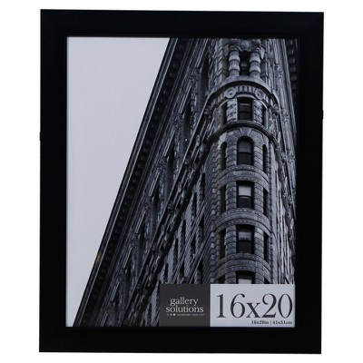 16X20 Black Flat With Inner Ridge Large Wall Frame - Gallery Perfect