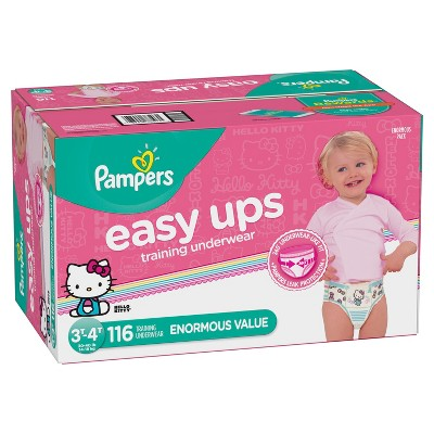 Pampers Easy Ups Girls' Training Pants Enormous Pack - 3T-4T (116ct)