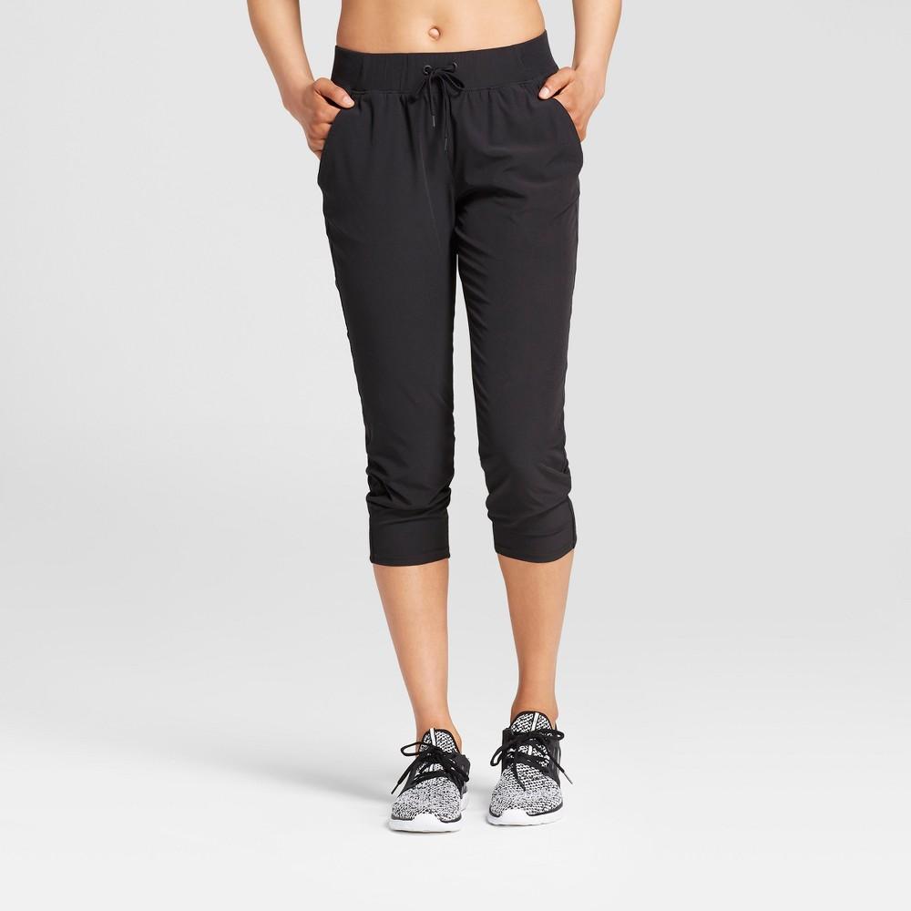 Women's Everyday Woven Mid-Rise Capri Leggings 22 - C9 Champion Black Xxl
