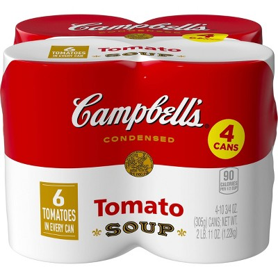 Campbell's Condensed Tomato Soup 10.75oz (Pack of 4)