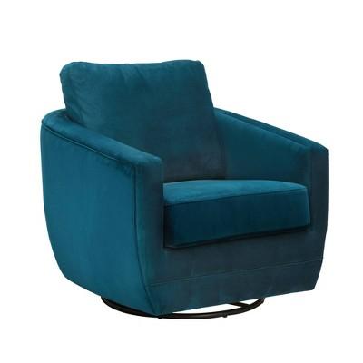 Karla Dubois Gogh Swivel Accent Chair - Peacock