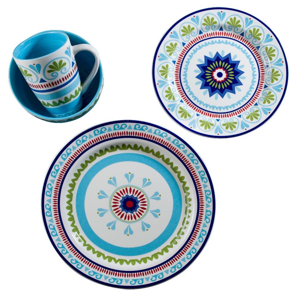 Image of Euro Ceramica Marrakesh 16pc Dinnerware Set, Multi-Colored
