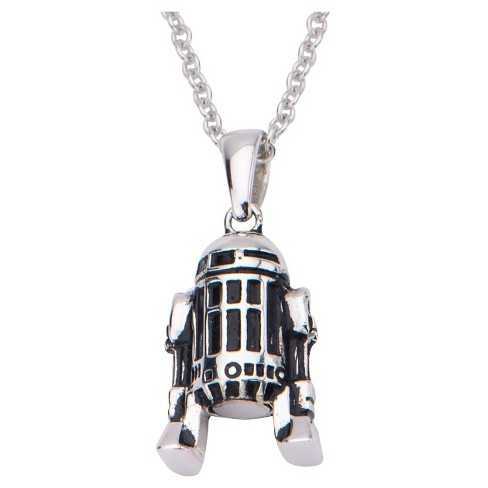 "Women's  'Star Wars' R2-D2 925 Sterling Silver Pendant with Chain (18"") - image 1 of 2"