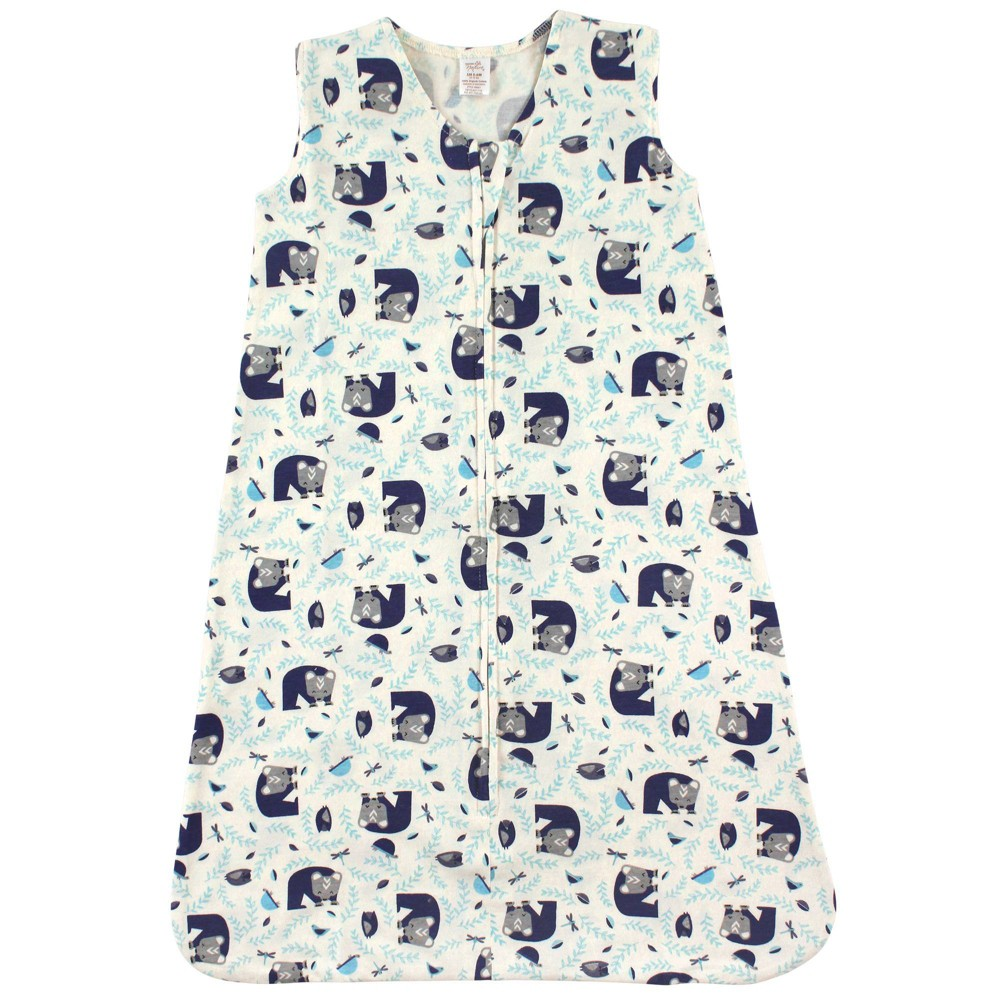 Touched By Nature Unisex Baby Organic Cotton Sleeveless Wearable Sleeping Bag Sack Blanket Woodland 6 12m