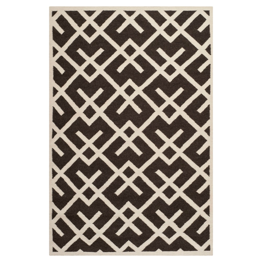 Tangier Dhurry Rug - Brown/Ivory (5'x8') - Safavieh