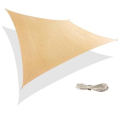 12' x 12' Square Sun Shade Sail - Beige - Backyard Expressions
