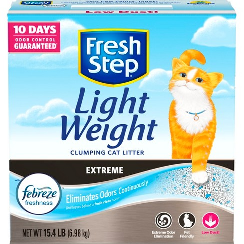 Fresh Step Lightweight Extreme with Febreze Freshness Clumping scented Cat Litter - 15.4lbs - image 1 of 10