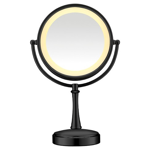 Conair Cosmetic Mirror Matte Finish - Black - image 1 of 3