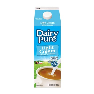 DairyPure Light Cream - 1qt
