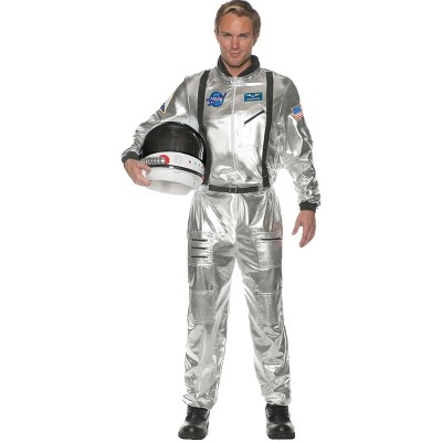 Adult Astronaut Halloween Costume Silver One Size