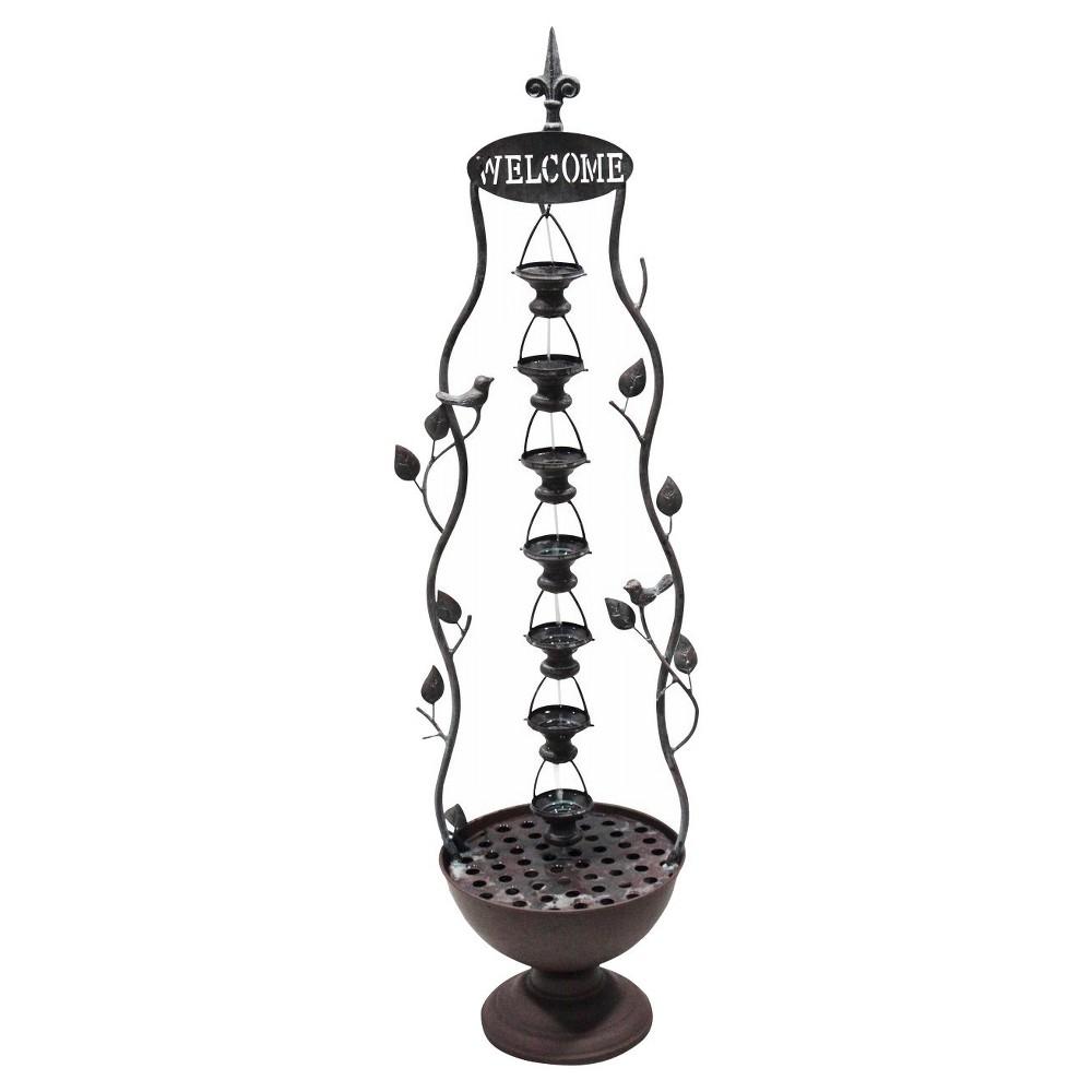 Alpine Corporation 41 Seven Hanging Cup Tier Layered Floor Fountain - Bronze