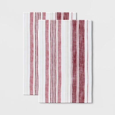2pk Cotton Plain Woven Kitchen Towels - Threshold™