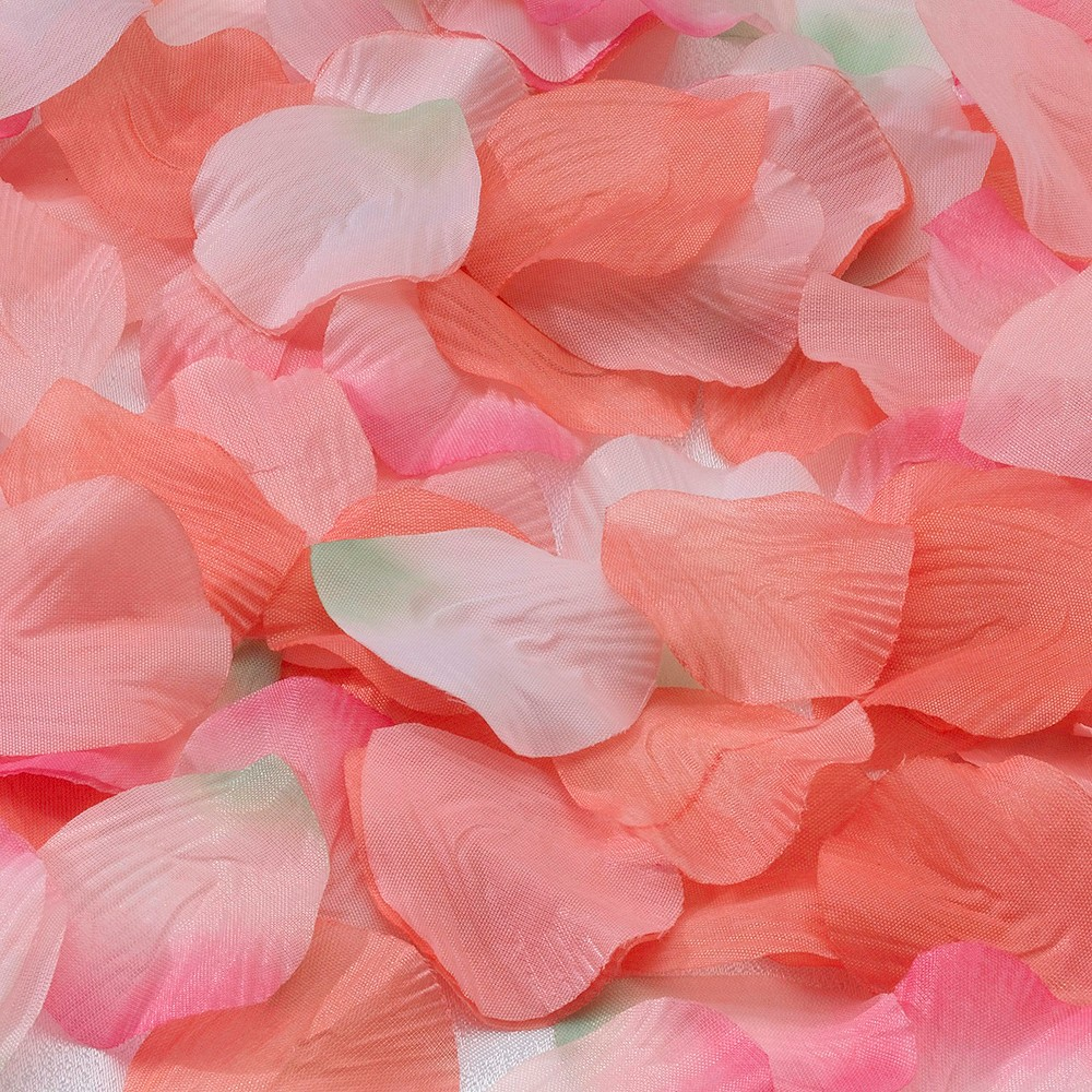 Decorative Rose Petals - Orange/Pink