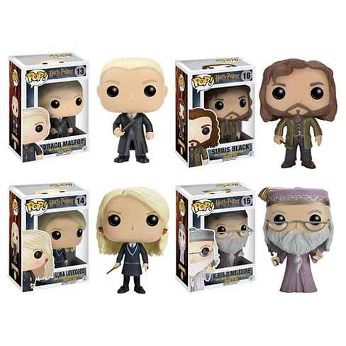 Funko Harry Potter POP! Movies Collectors Set: Draco Malfoy, Sirius Black, Luna Lovegood & Dumbledore - image 1 of 5