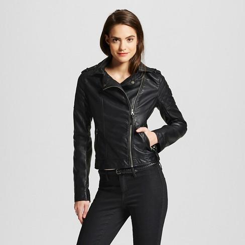 6c0bbf1ea7f27 Women s Faux Leather Moto Jacket - Xhilaration™   Target