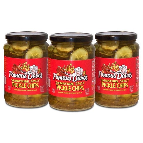 Famous Dave's® Signature Spicy Pickle Chips - 3pk - image 1 of 2