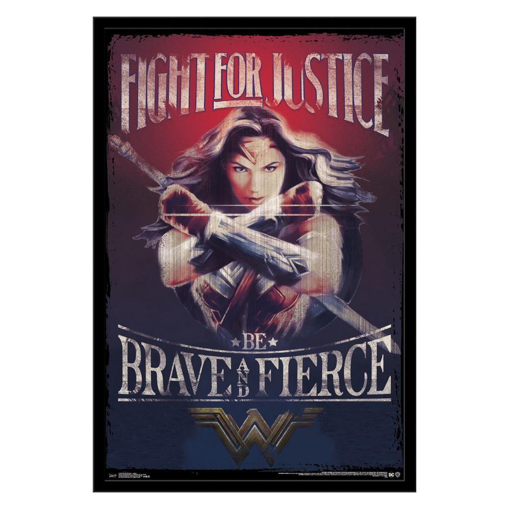 Wonder Woman - Justice Framed Poster Trends International, Multi-Colored