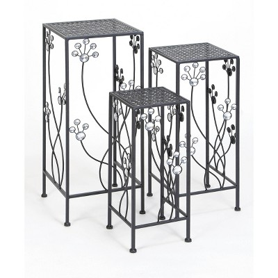 Set of 3 Modern Iron Square Plant Stands - Olivia & May