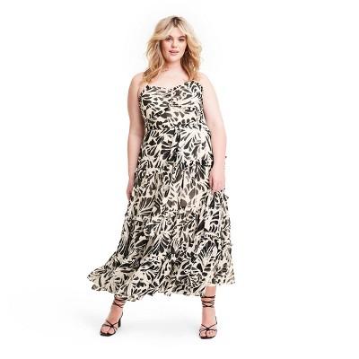 Botanical Sleeveless Tiered Ruffle Dress - ALEXIS for Target Black
