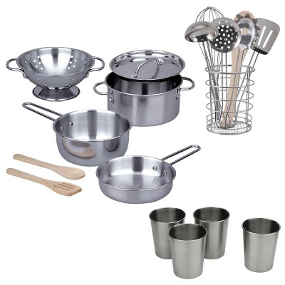 Kaplan Early Learning Stainless Steel Outdoor Cooking Playset