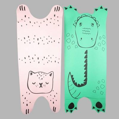 2ct Kids' Yoga Mat/Nap Mat Pink/Green - Bullseye's Playground™