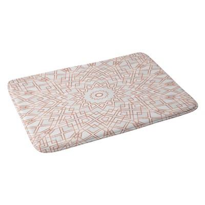 "Elisabeth Fredriksson Rose Mandala Bath Rugs and Mats Pink 24"" x 36"" - Deny Designs"