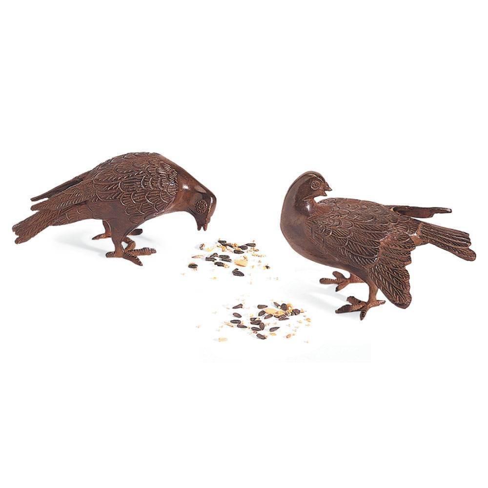 5 34 Pair Of Bronzed Doves Figurines Rustic Bronze Achla Designs