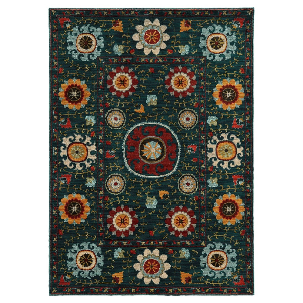 Skye Green Area Rug (8'X11'), Cool