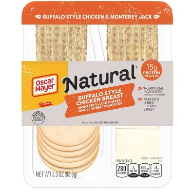 Oscar Mayer Natural Buffalo Style Chicken Breast with Monterey Jack Cheese Snack Plate - 3.3oz