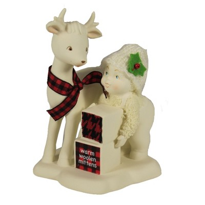 "Dept 56 Snowbabies 5.0"" Warm Woolen Mittens Reindeer Christmas  -  Decorative Figurines"