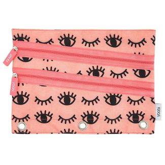 Eye Design Pencil Case Coral - Yoobi™