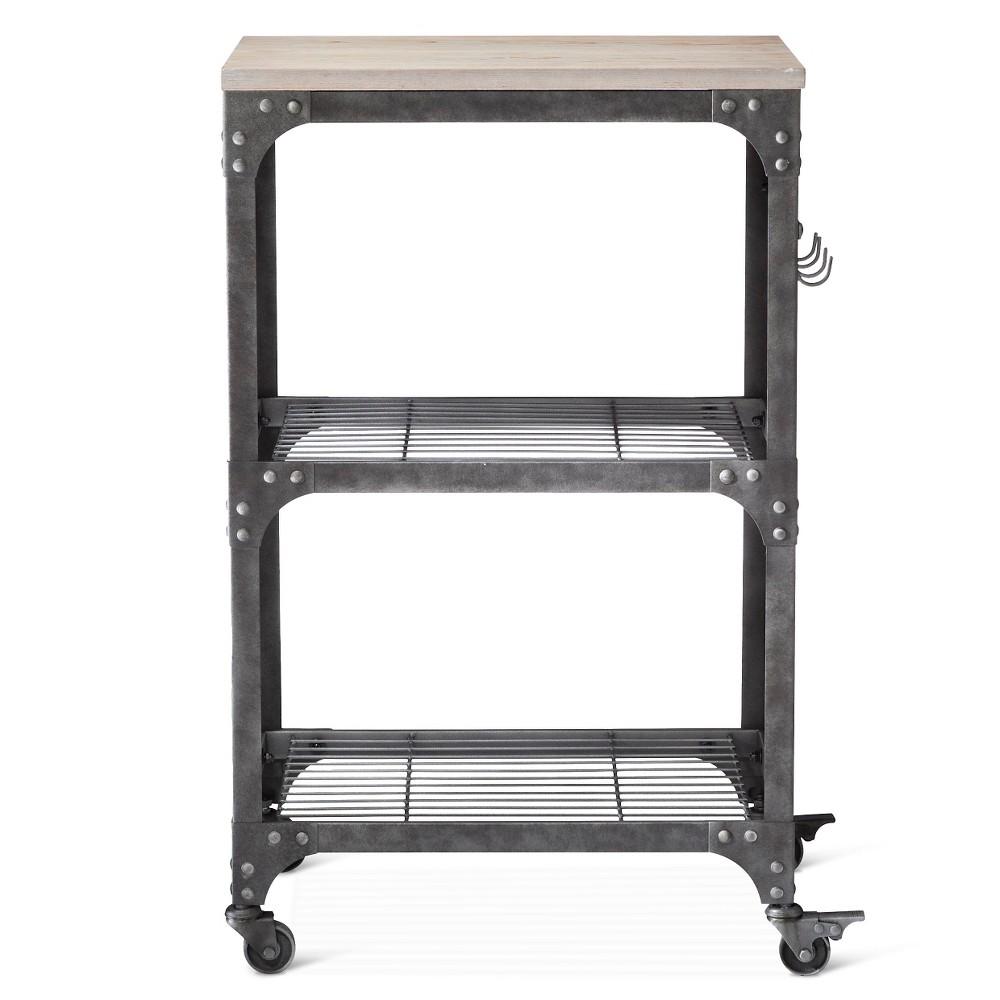 Franklin Microwave, Kitchen Cart - Threshold, Gray