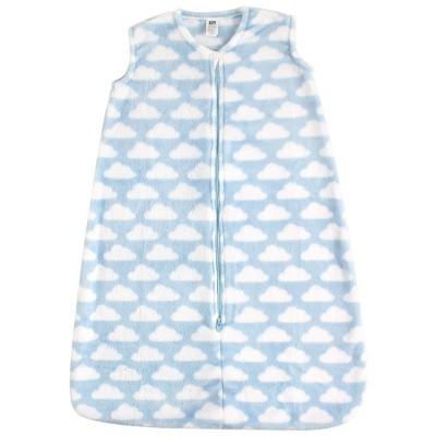 Hudson Baby Infant Boy Plush Sleeping Bag, Sack, Blanket, Blue Clouds Plush