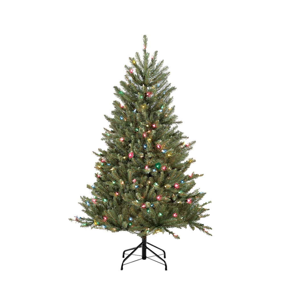 Image of 4.5ft Pre-lit Artificial Christmas Tree Forest Fir- Puleo