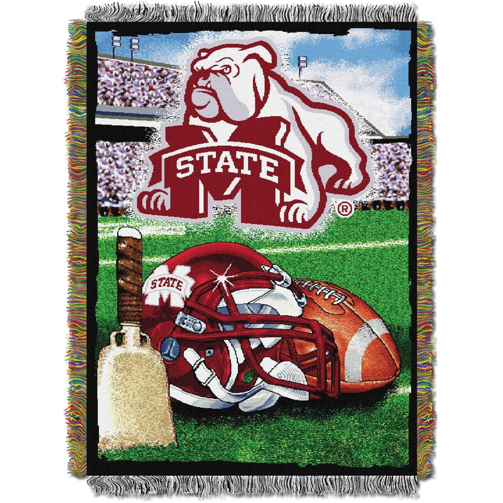 Mississippi State Bulldogs Home Field Advantage College Throw Blanket