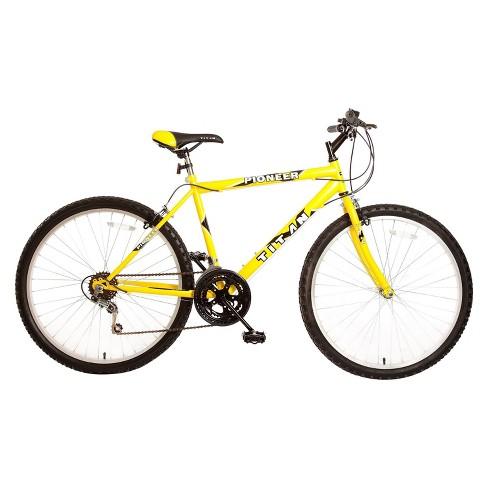 "Titan Men's Pioneer 26"" Mountain Bike - Yellow - image 1 of 1"