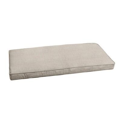 Sunbrella Outdoor Bench Cushion Silver Gray