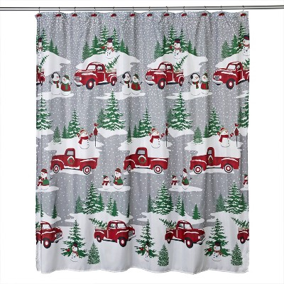 Snowy Truck Shower Curtain and Hook Set - SKL Home