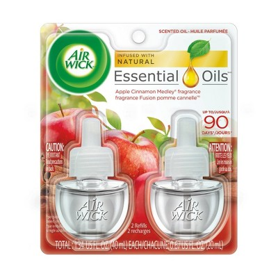 Air Wick Apple Cinnamon Medley Scented Oil Refills - 2ct/0.67 fl oz