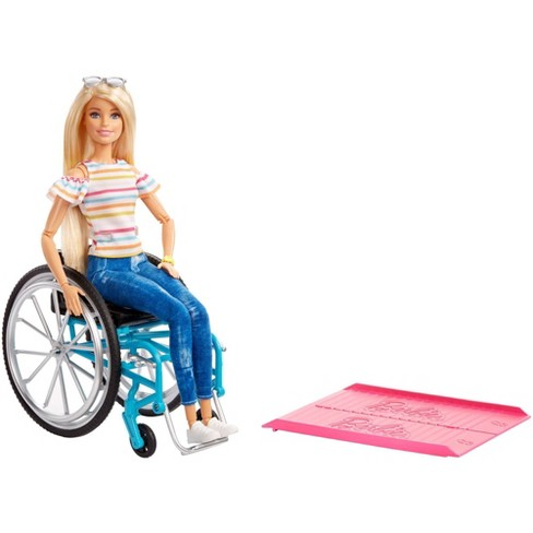 Barbie Fashionistas Doll #132 Blonde with Rolling Wheelchair and Ramp - image 1 of 4