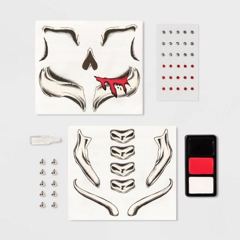 Zombie/Skull Tattoo and Gem Halloween Costume Makeup Kit - Hyde & EEK! Boutique - Hyde and Eek! Boutique™ - image 1 of 2