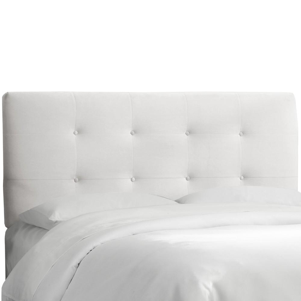 Full Dolce Headboard White Velvet - Cloth & Co.