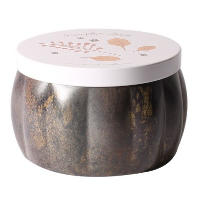 13.6oz Printed Tin Container Candle Pumpkin Spice