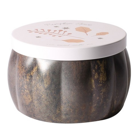 13.6oz Printed Tin Container Candle Pumpkin Spice - image 1 of 1
