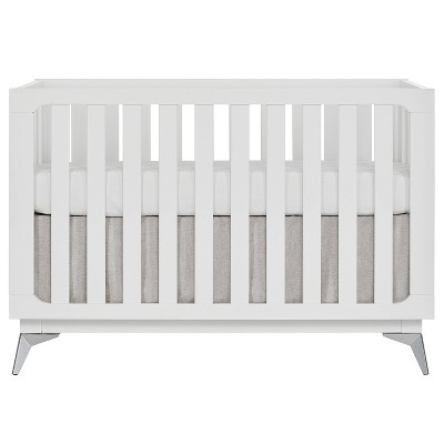 Sweetpea Ultra Modern Baby 4-in-1 Convertible Crib - White