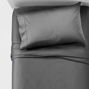 Performance Sheet Set (Twin) Gray 400 Thread Count - Threshold , Dark Gray